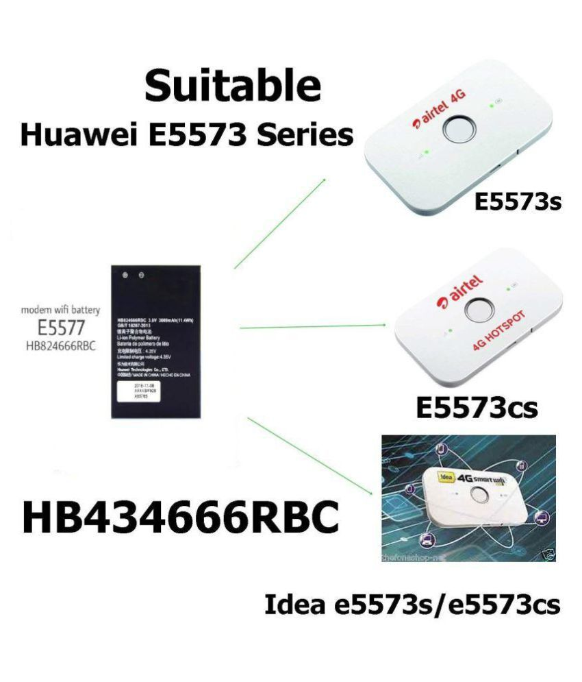 HB434666RBC Battery For Huawei Wireless Router E5573 E5573S