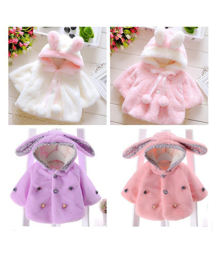 Baby Infant Girls Fur Winter Warm Coat Cloak Jacket Thick Clothes