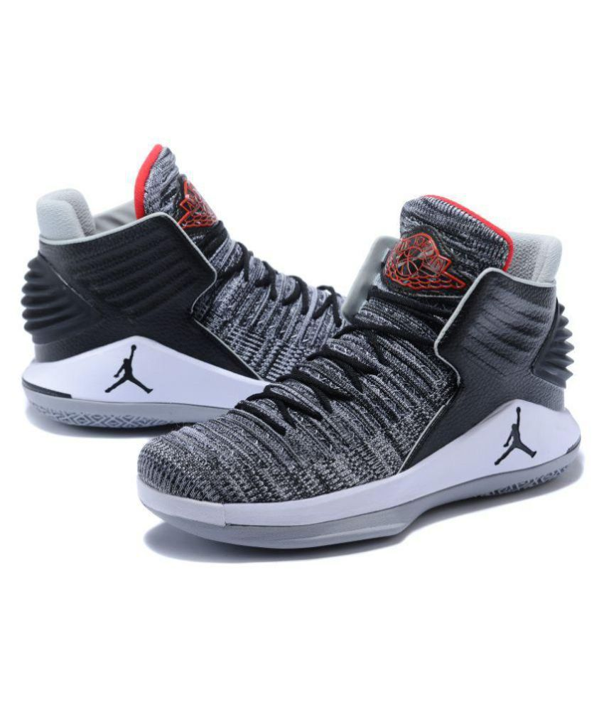fba8c26217e Nike Air Jordan XXXII Gray Basketball Shoes - Buy Nike Air Jordan XXXII  Gray Basketball Shoes Online at Best Prices in India on Snapdeal