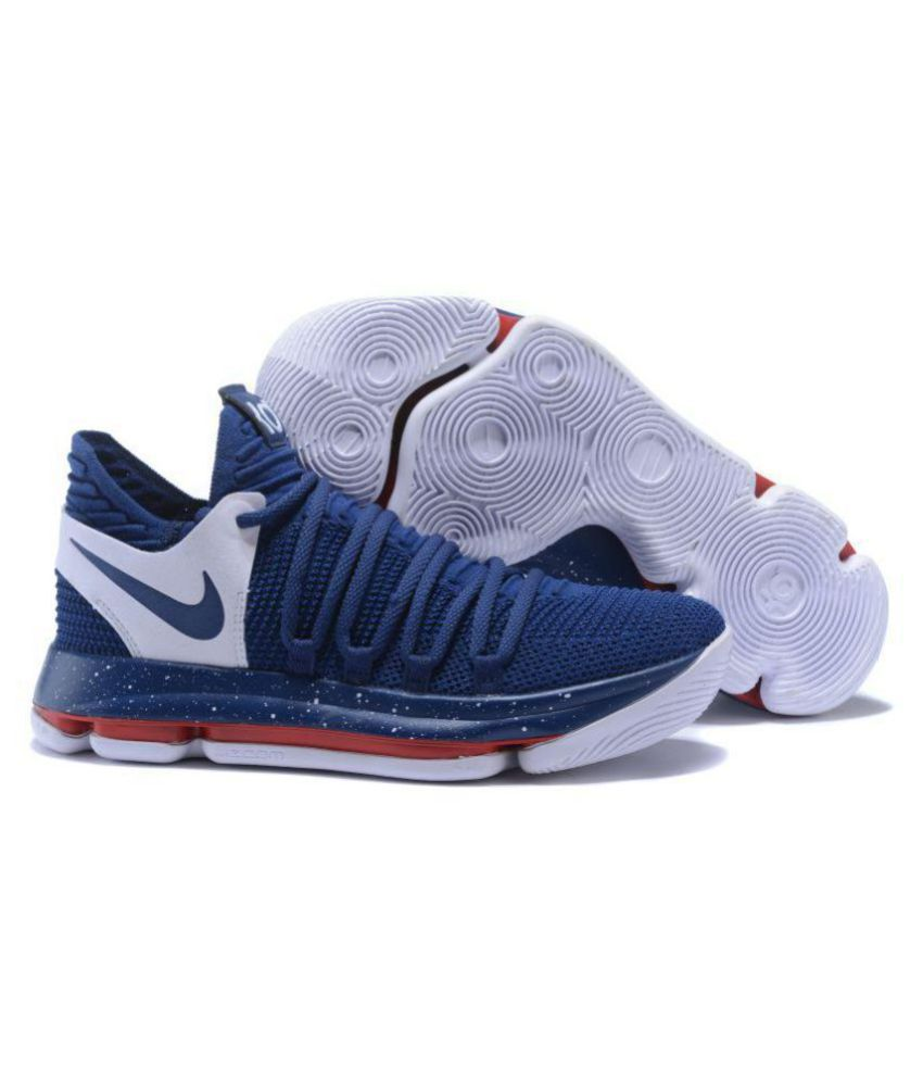 official photos 0d092 888a8 Nike 2018 KD 10 LIMITED EDITION Navy Basketball Shoes