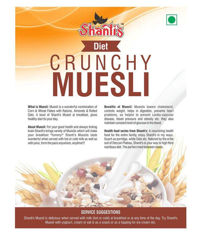 shanti foods Muesli 250 gm Pack of 2: Buy shanti foods
