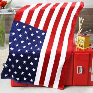 USA//British Flag Union Jack Pattern Bath Beach Large Soft Towel Washcloth