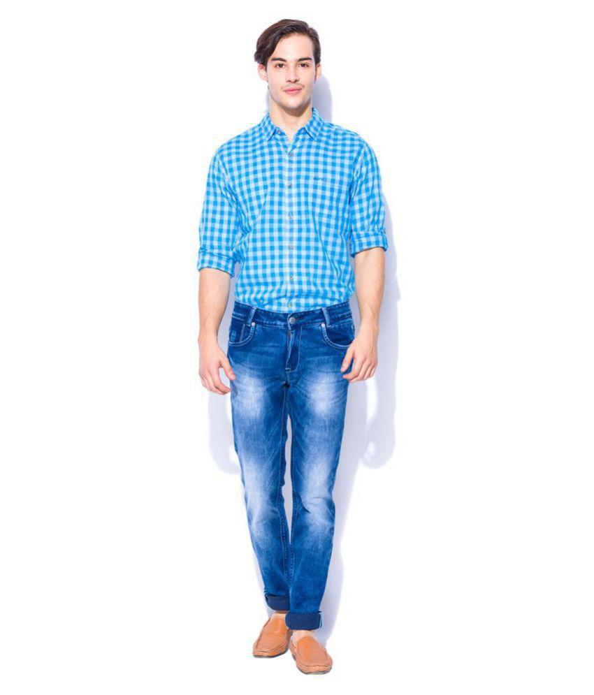 Mufti Dark Blue Slim Jeans