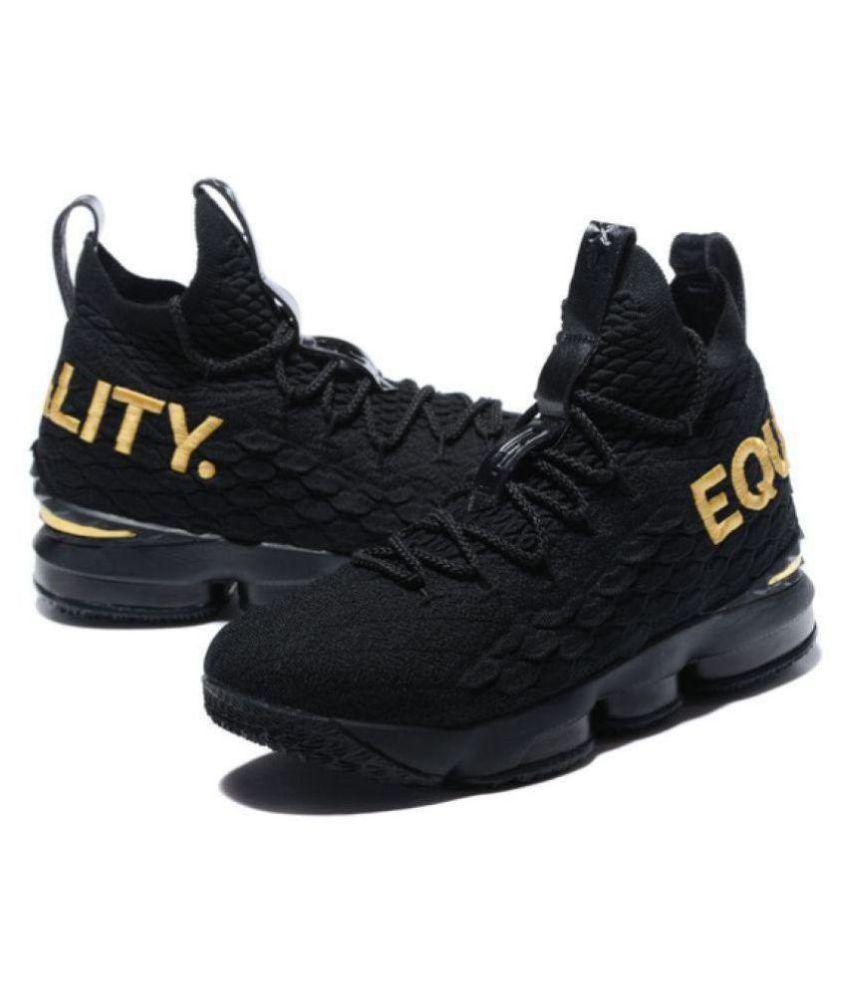 promo code c1d3a e692e Nike NIKE LeBron 15Equality Black Basketball Shoes