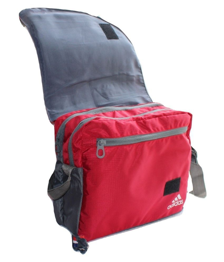 ... Adidas Latest Trendy Stylish Bag for School College Other Red Nylon  Casual 46e0fdeadf665