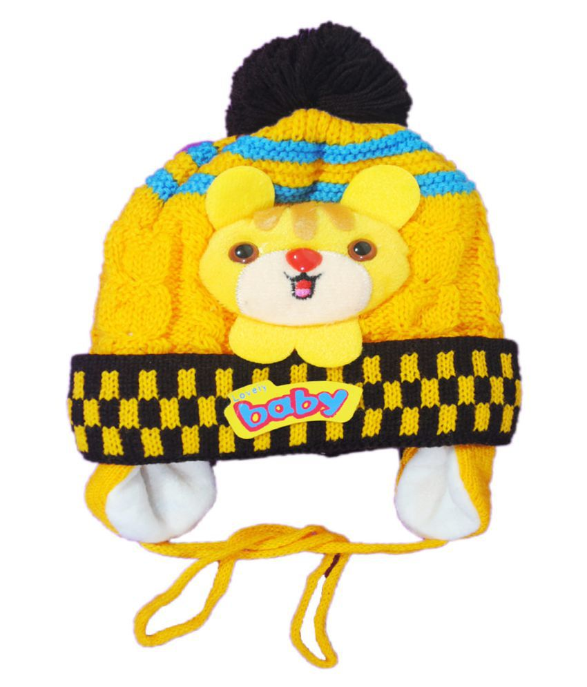 Kids Stylish Winter Cap  Woollen Cap (Yellow)  Buy Online at Low Price in  India - Snapdeal b31957d76dff