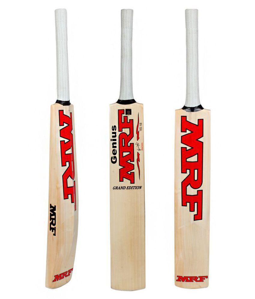 MRF genius grand virat kohli signed Poplar Willow - Cricket Bat