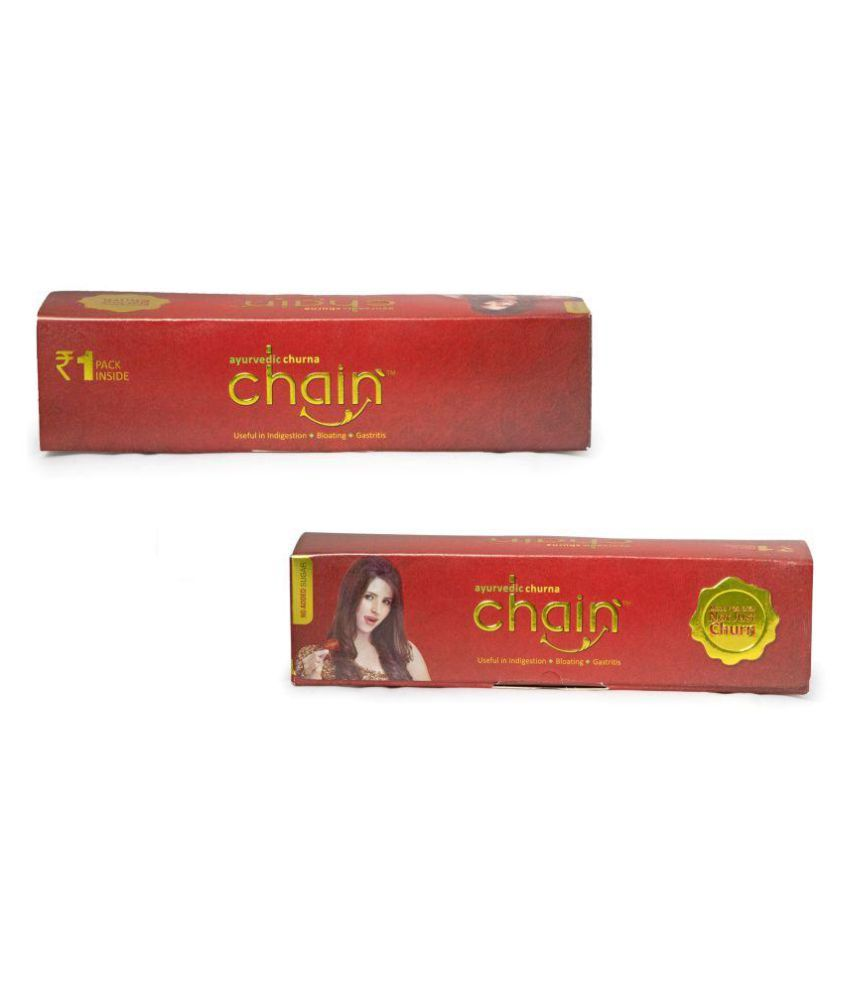 Chain Ayurvedic Churna 1 Rs Paper Box Powder 50 gm Pack Of 2