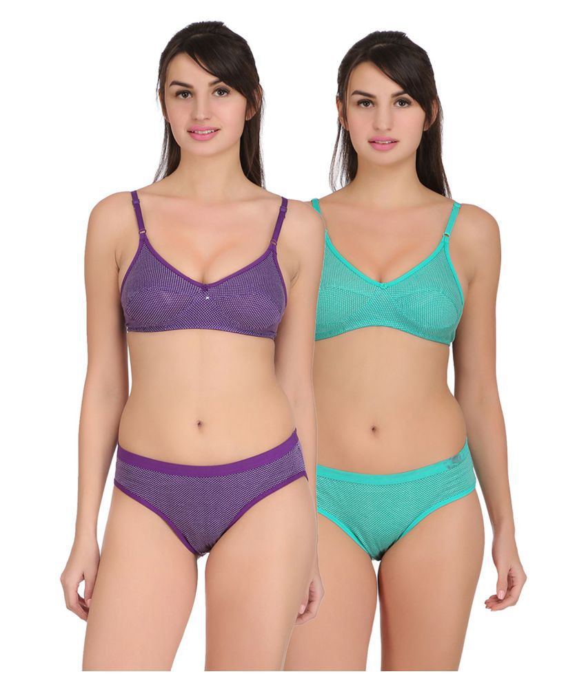 b1bf12b3b3 Buy Embibo Cotton Bra and Panty Set Online at Best Prices in India -  Snapdeal