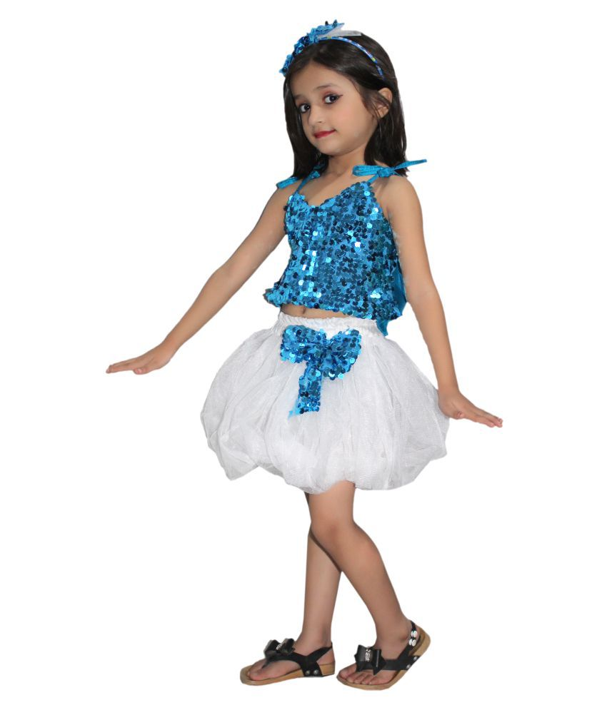 Kaku Fancy Dresses Skirt Top Set Western Dance Dress For kids,Costume For  School Annual function/Theme Party/Competition/Stage Shows Dress/Birthday