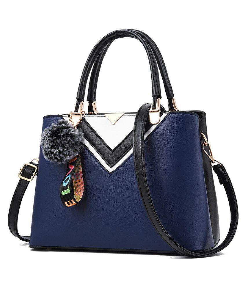 Levaso Blue Pure Leather Crossbody