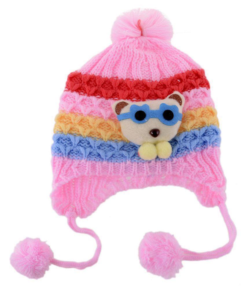 af1da3fdc66 Shop Frenzy Kids Woolen Winter Soft caps for Baby boy Baby Girl ...