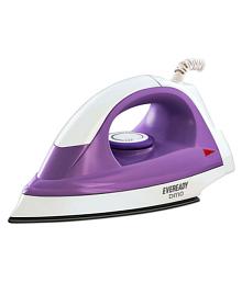 Eveready DI110 Dry Iron white & purple
