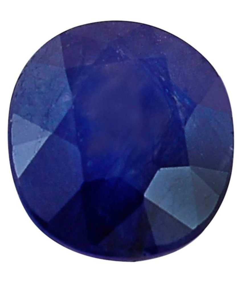 5.25 Ratti Blue Crystal Sapphire (Neelam) Gemstone for Men and Women