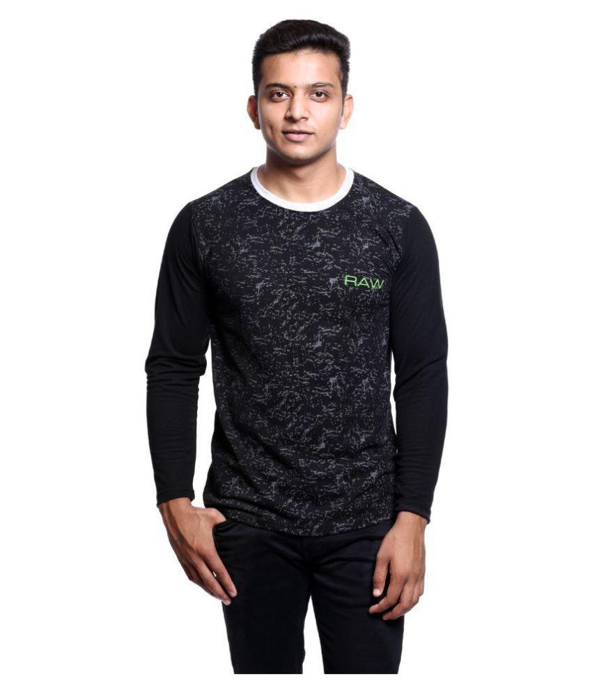 Reo Active Wear (RAW) Black Full Sleeve T-Shirt