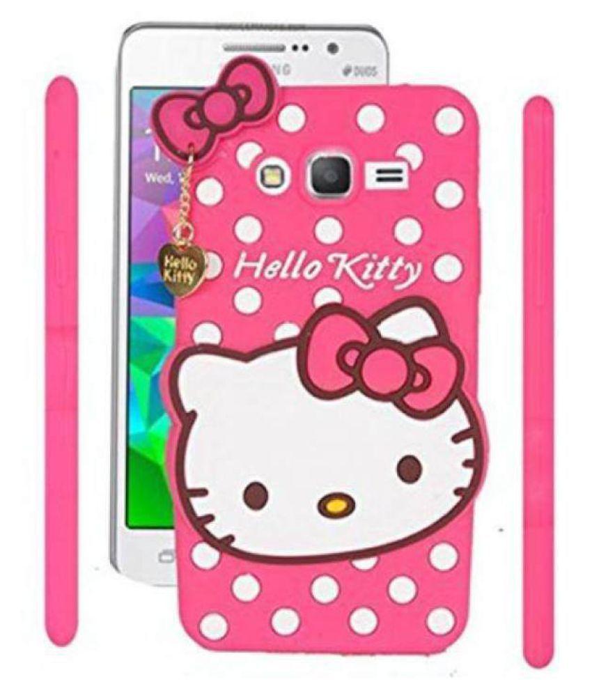 Samsung Galaxy j5 Plain Cases Kosher Traders - Pink 3D Hello Kitty