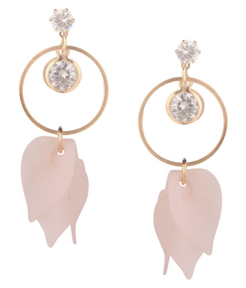 Efulgenz Stylish Gold Plated Fashion Wedding Party Wear Dangle Drop Earrings Jewellery for Women Girls