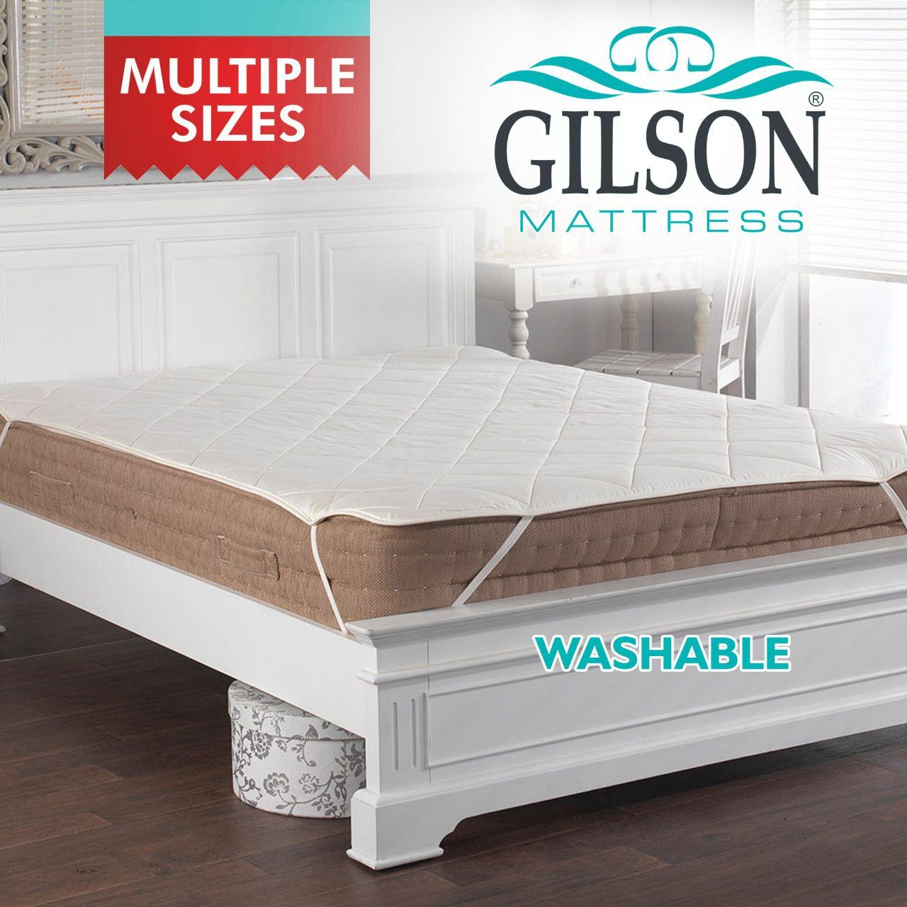 Gilson White Polyester Mattress Protector
