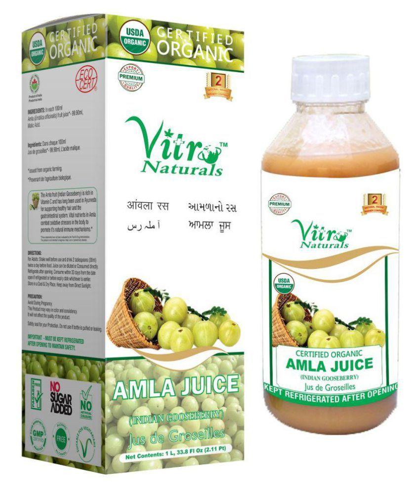 Vitro Naturals Certified Organic Amla Juice 1 Ltr Liquid 1 l Pack Of 1