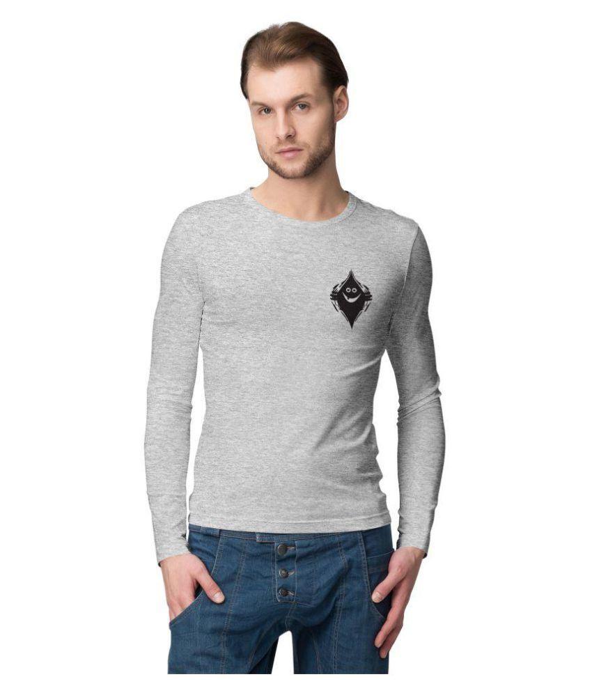 American-Elm Grey Full Sleeve T-Shirt Pack of 1