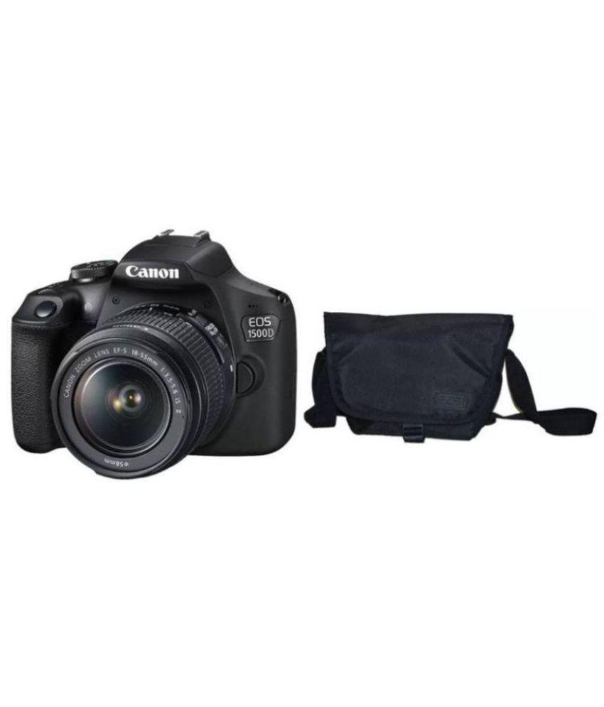 Canon EOS 1500D Kit (EF S18-55 IS II + 55-250 mm) 24 1 MP DSLR Camera  (Black)