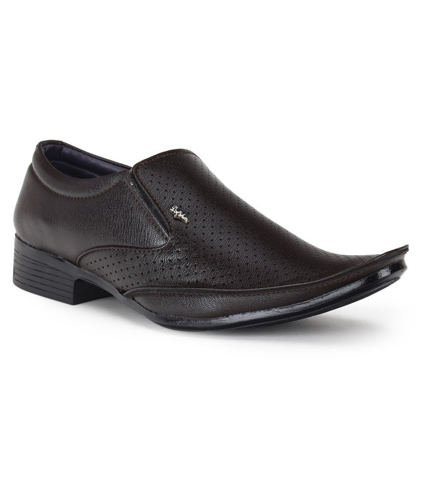 89fba28425d Footista Slip On Artificial Leather Brown Formal Shoes Price in India- Buy  Footista Slip On Artificial Leather Brown Formal Shoes Online at Snapdeal