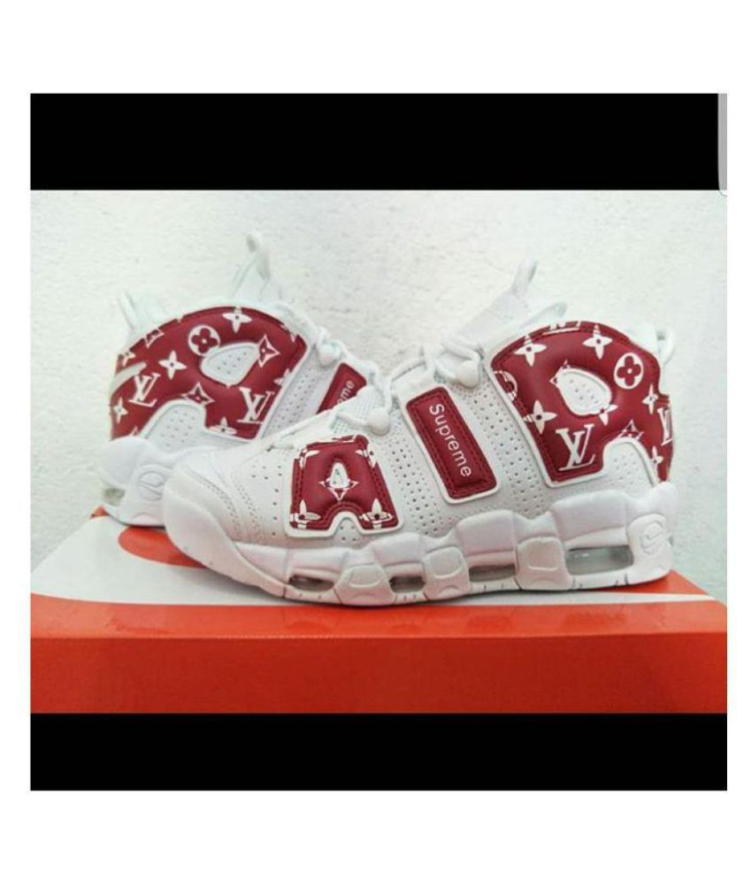 120f3f8172917 Nike Air uptempo LV Supreme Red Basketball Shoes