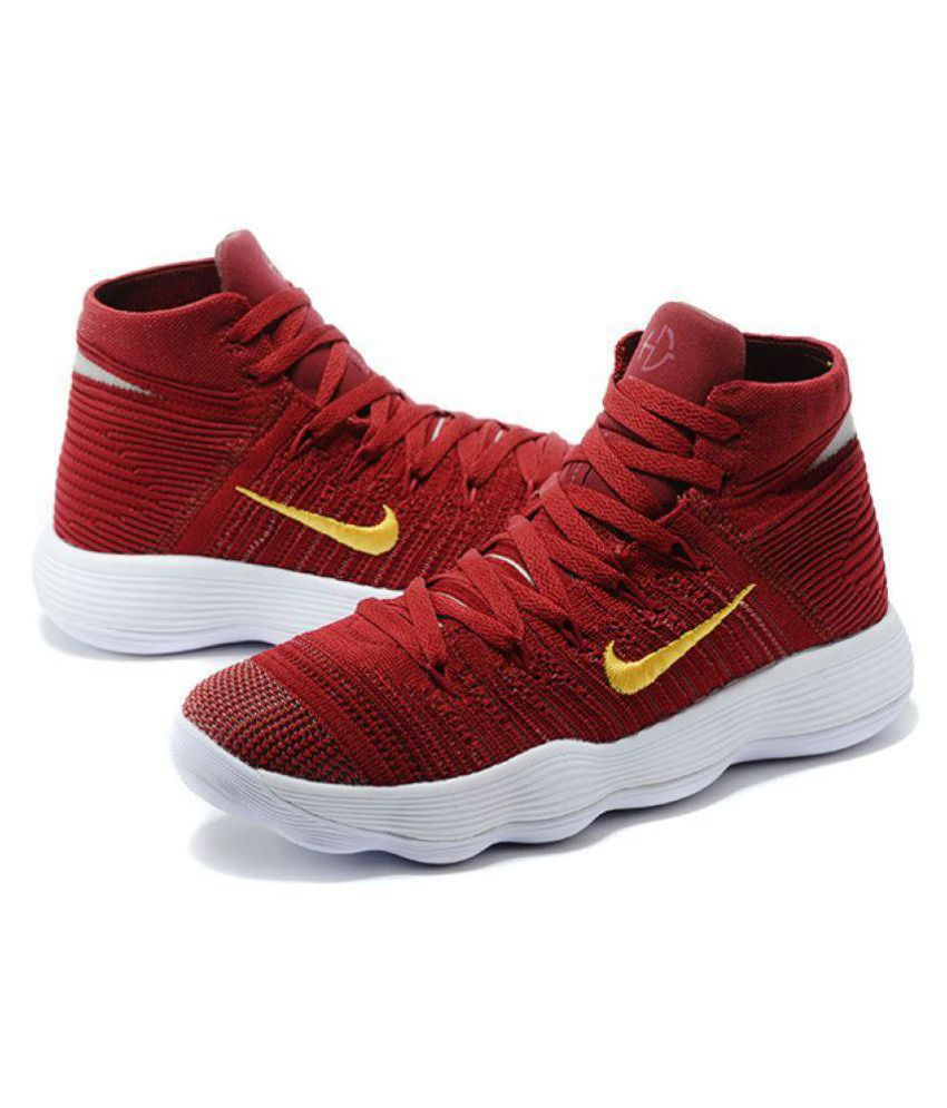 5f8c1d9be0fb Nike HYPERDUNK 2018 FLYKNIT Red Basketball Shoes - Buy Nike HYPERDUNK 2018  FLYKNIT Red Basketball Shoes Online at Best Prices in India on Snapdeal
