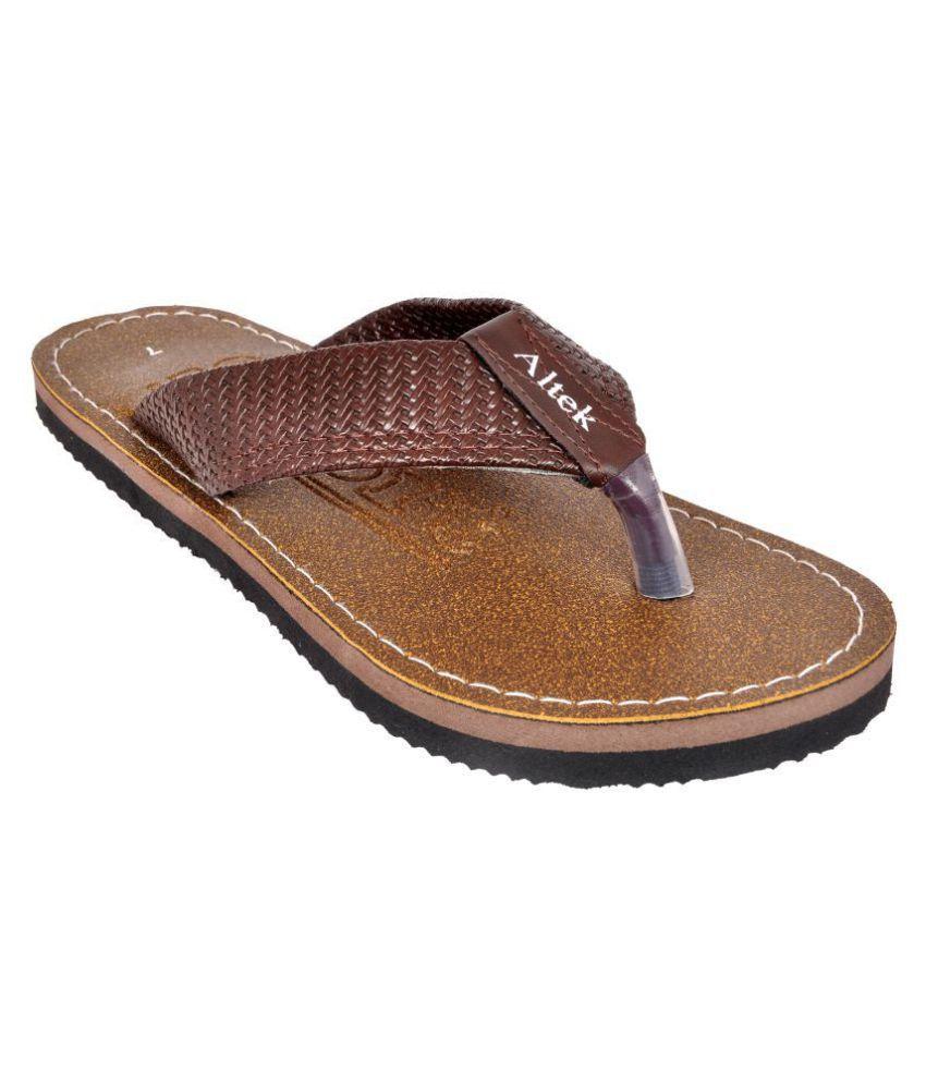 Altek Brown Thong Flip Flop
