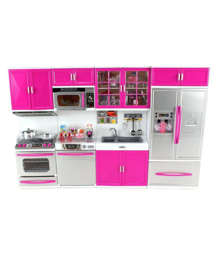 latest barbie dream house kitchen set light sound buy latest rh snapdeal com