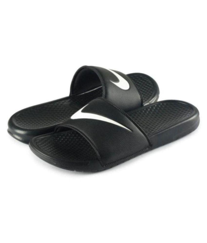 best service f4602 bf98d Nike Black Slide Flip flop