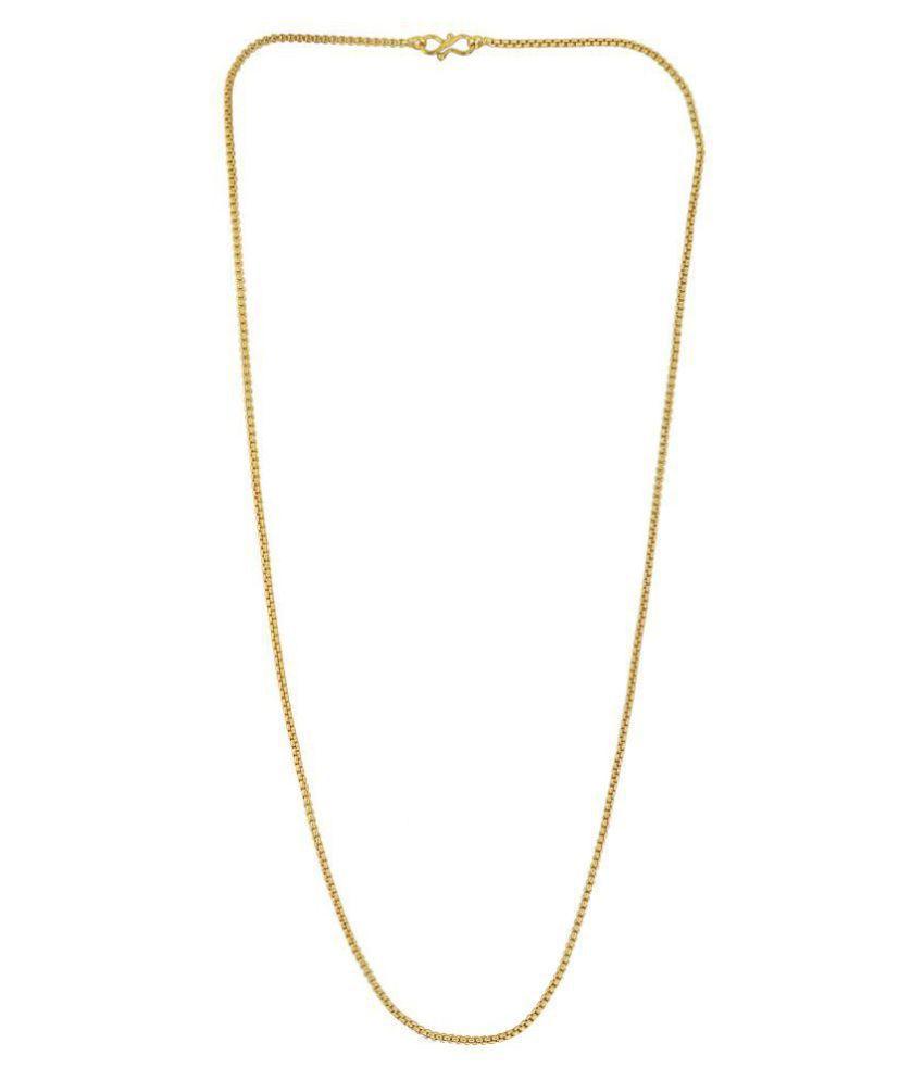 e35c6b0fbf2 Memoir Gold plated, 24 Inch/ 11 gm Round Box Chain design, light weight  dailyuse Fashion chain Men women: Buy Memoir Gold plated, 24 Inch/ 11 gm  Round Box ...