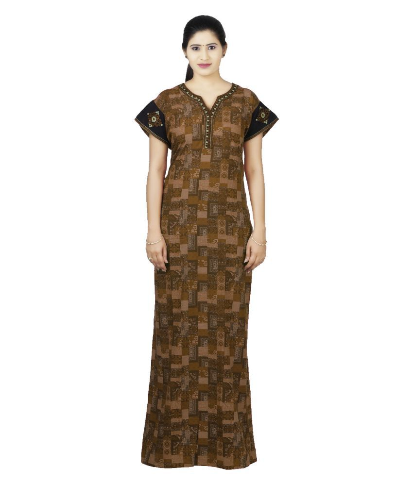 OSF Viscose Nighty & Night Gowns - Brown