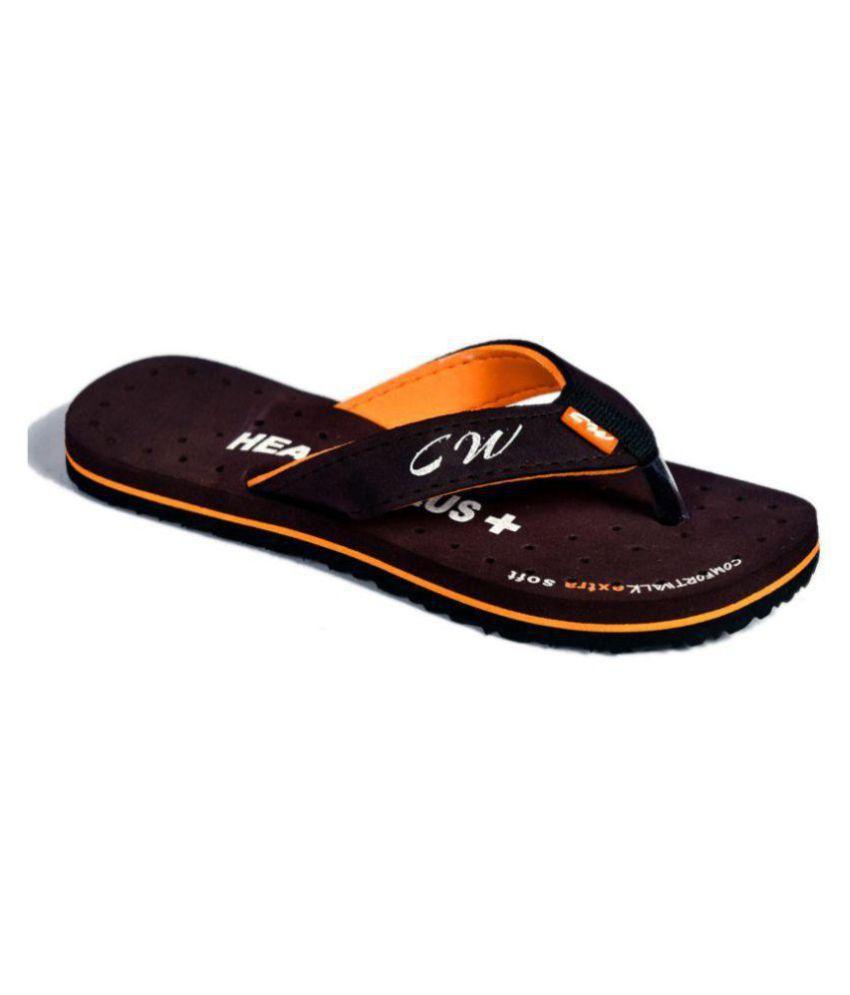 Health Plus Brown Slippers