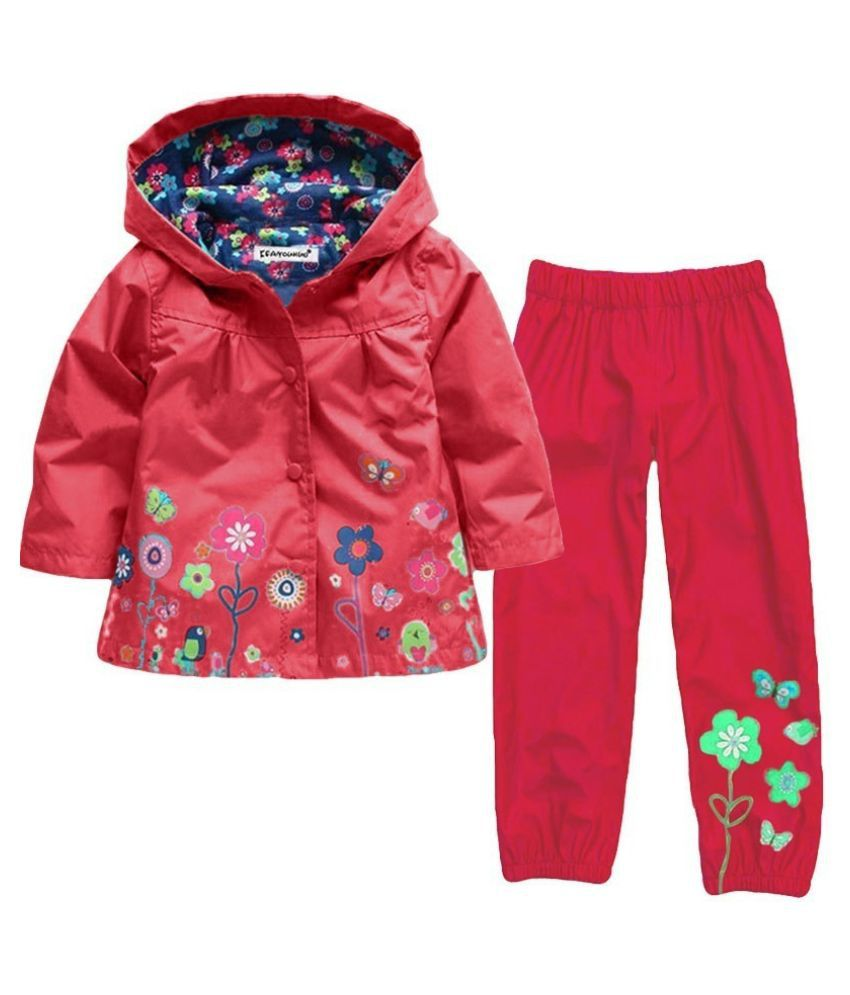 Girls Clothes Set 2017 Autumn Winter Kids Clothes Girls Sets Raincoat Jackets+Pant Girls Sport Suit Children Clothing
