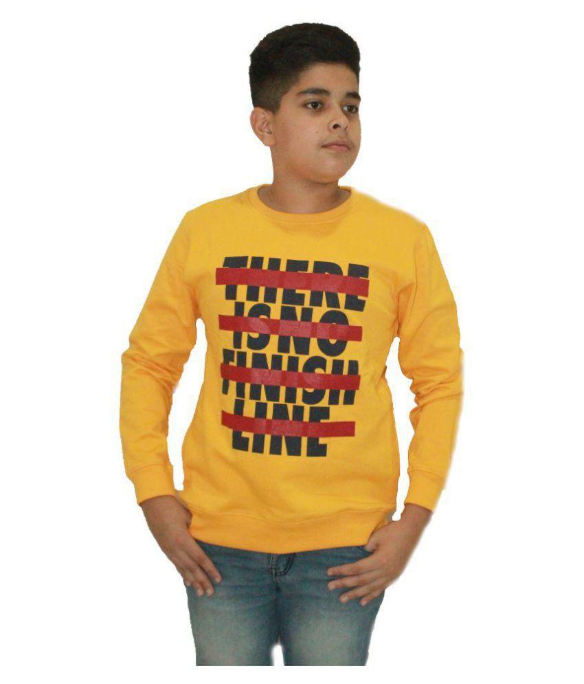 MAXEXCEL KRAZYGANG ROUND NECK SWEATSHIRTS FOR BOYS