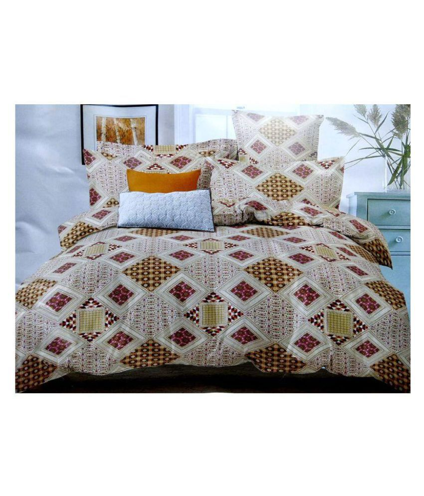 JMD Cotton Double Bedsheet with 2 Pillow Covers