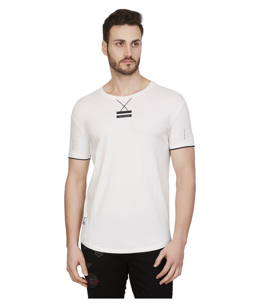 Kozzak White Half Sleeve T-Shirt