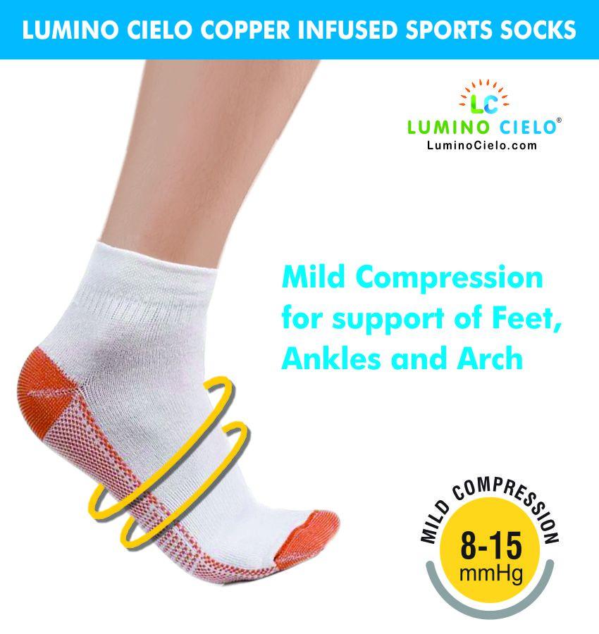 Lumino Cielo Copper Infused Sports Socks Regular
