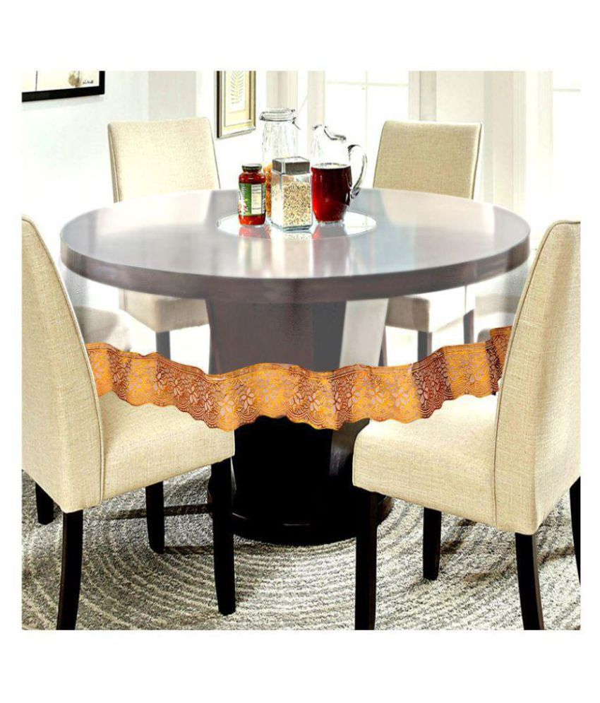 E-Retailer 4 Seater Transparent PVC Single Table Covers