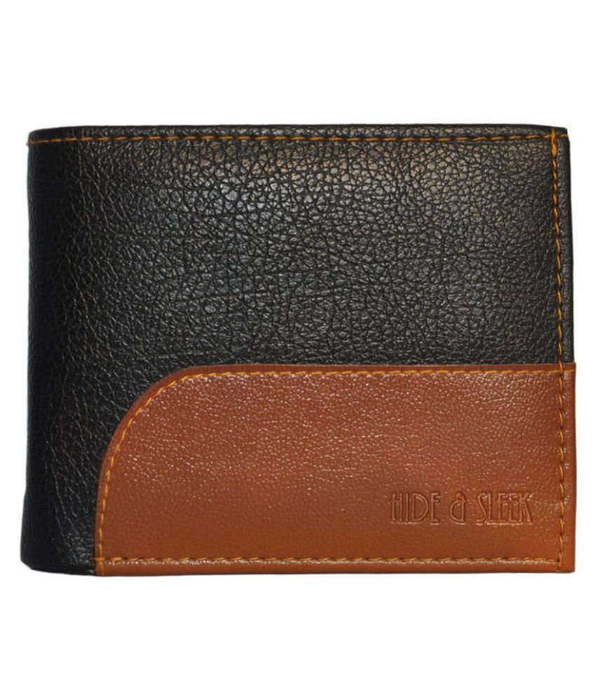 Hide amp;Sleek Faux Leather Multi Formal Regular Wallet