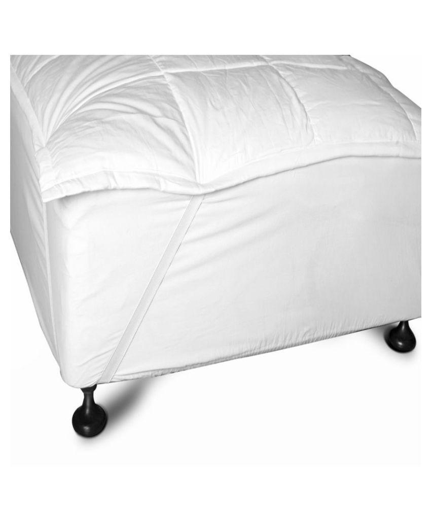 Just Linen White Cotton Mattress Protector