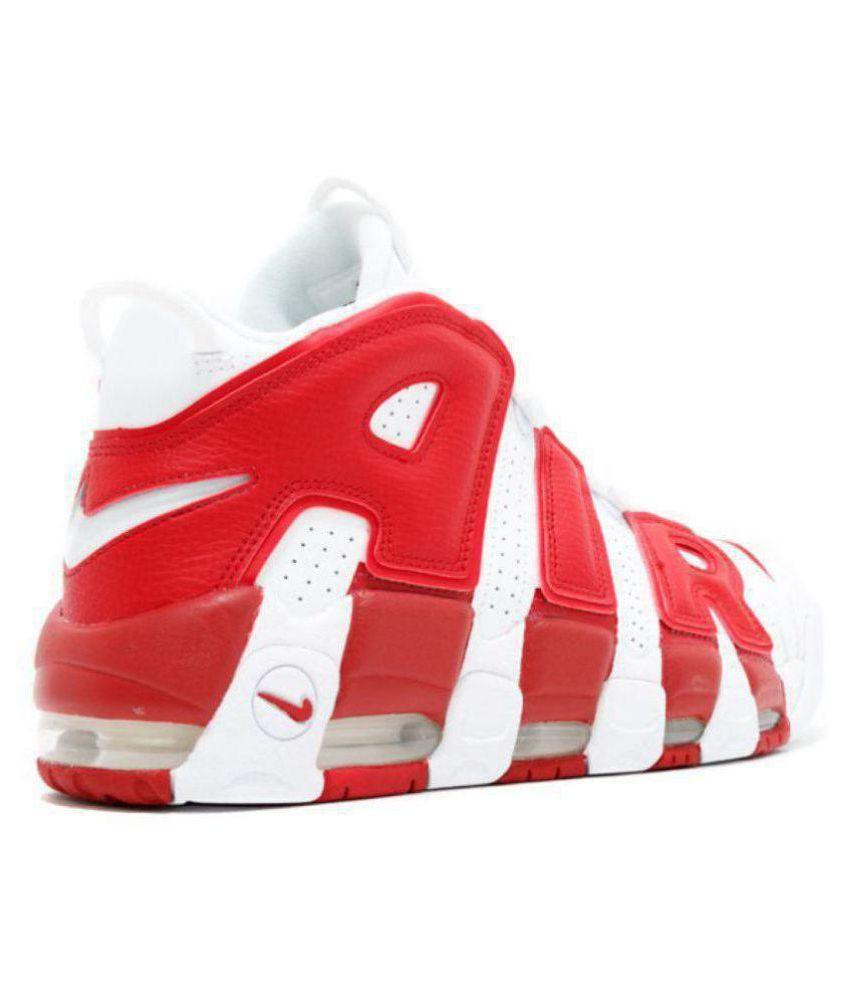4eb7aaa02cb9 Nike Air UpTempo White Basketball Shoes Nike Air UpTempo White Basketball  Shoes ...
