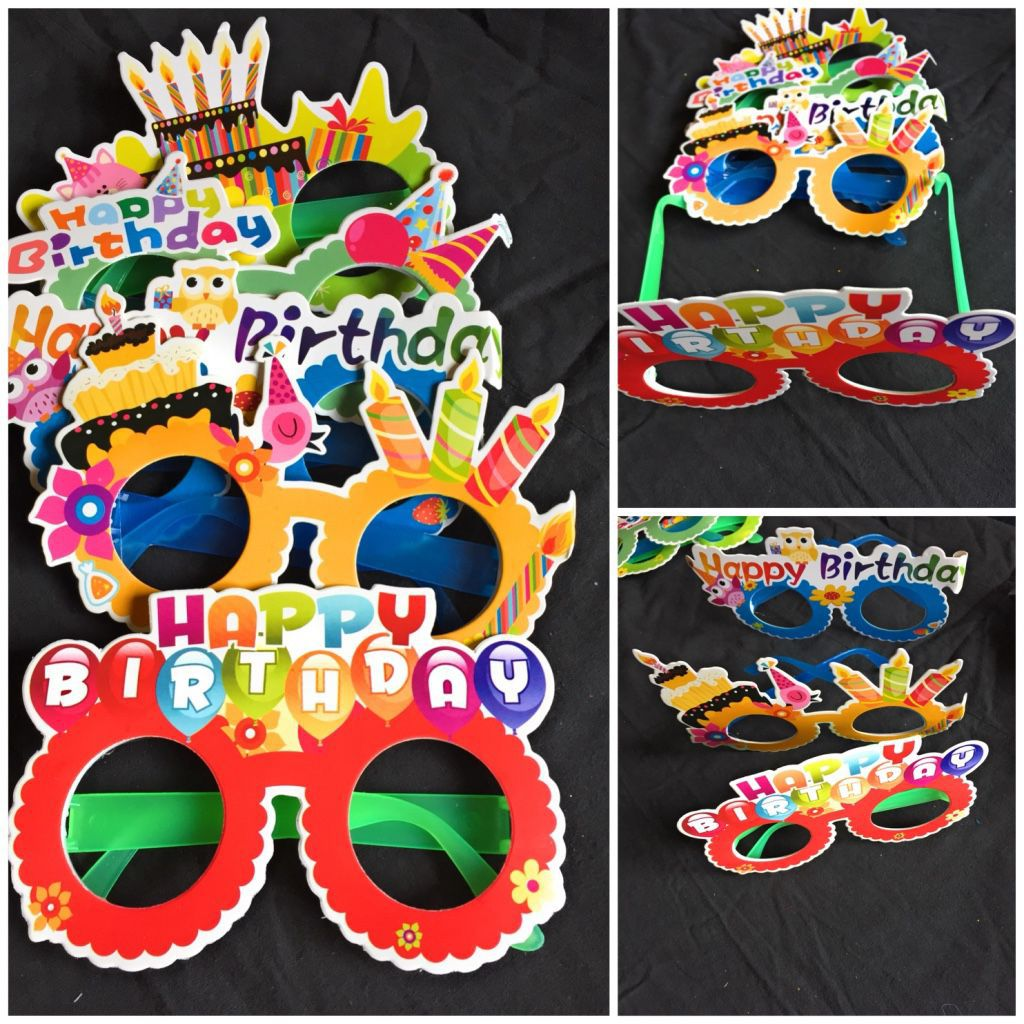 XLDreams Beautiful Imported 5 Happy Birthday Goggles for Birthday parties