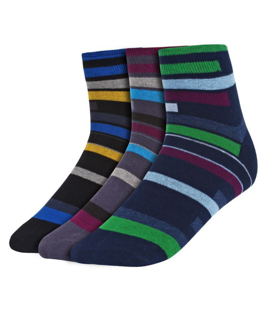 Creature Navy Casual Ankle Length Socks Pack of 3
