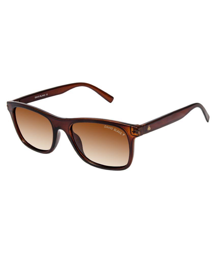 David Blake Brown Wayfarer Sunglasses ( 8748 )