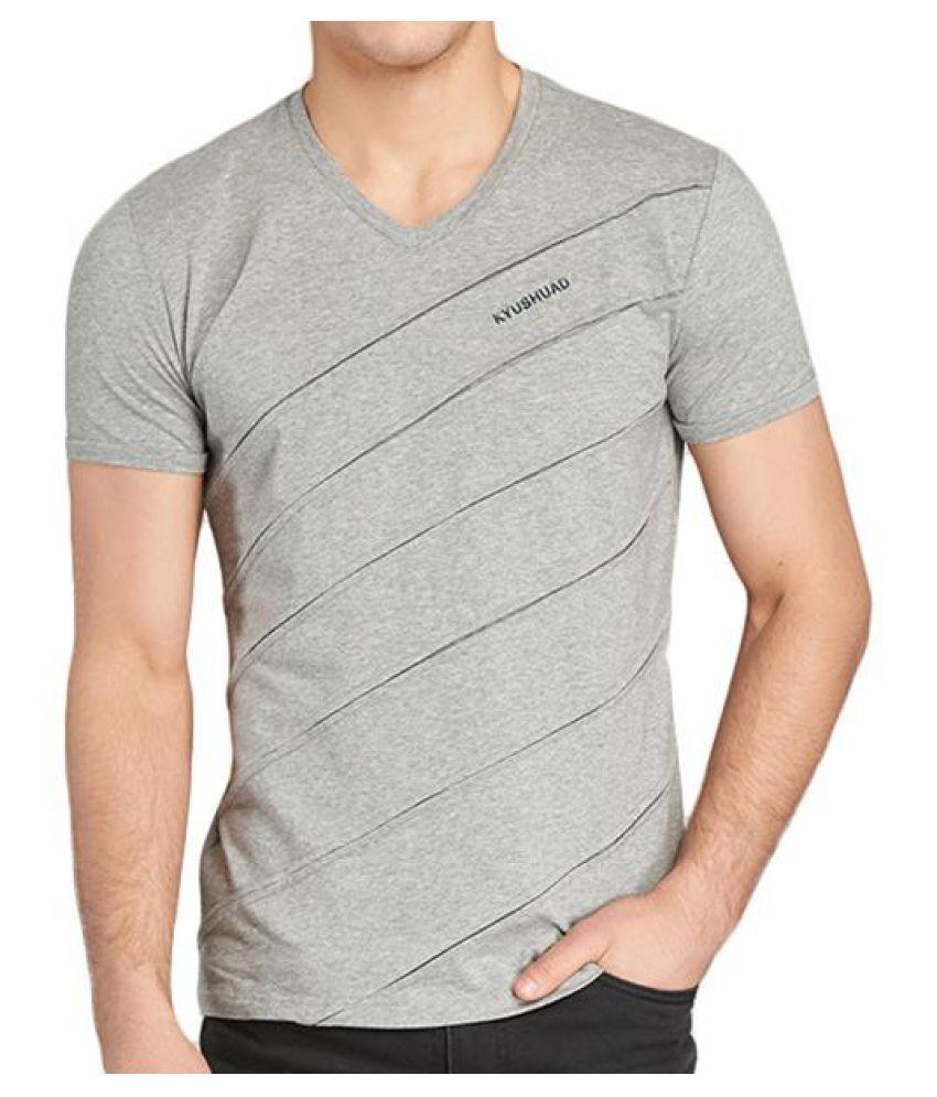 e3db806c3d54 Mens Summer Stylish Striped Folds V-neck Short Sleeve Cotton Breathable  Casual T shirt ...