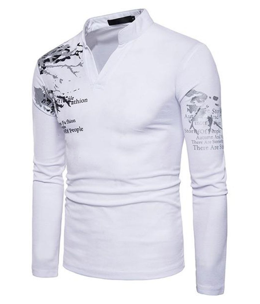47d9e9565 Mens 3D Printing V-neck Long Sleeve Slim Fit Casual T shirt - Buy ...
