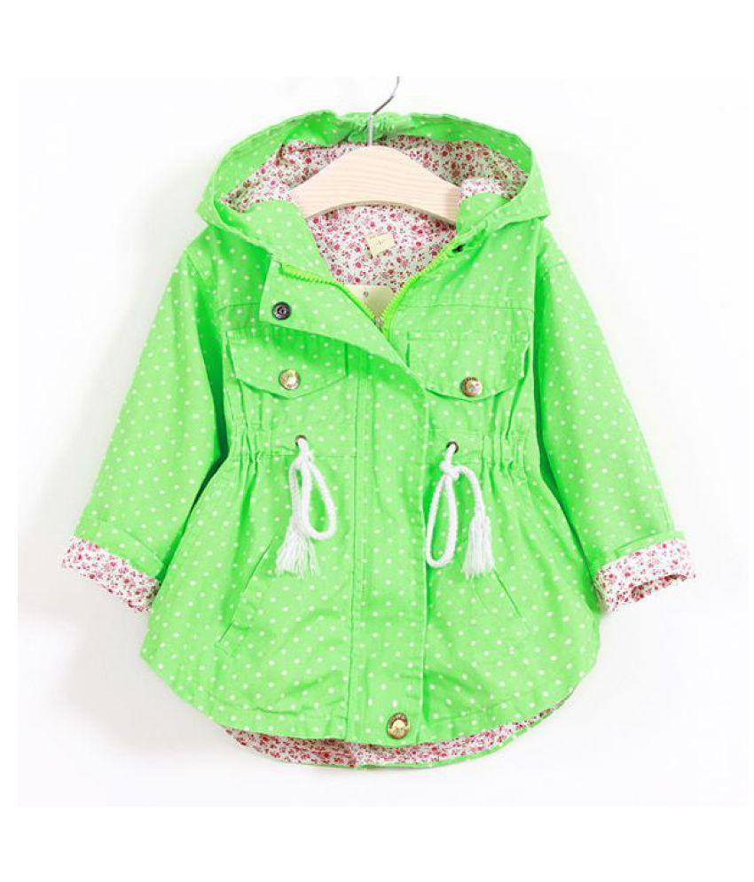 37ecd3081 Spring Autumn Toddler Girl Jackets Coats Hooded Windbreaker For 1Y ...