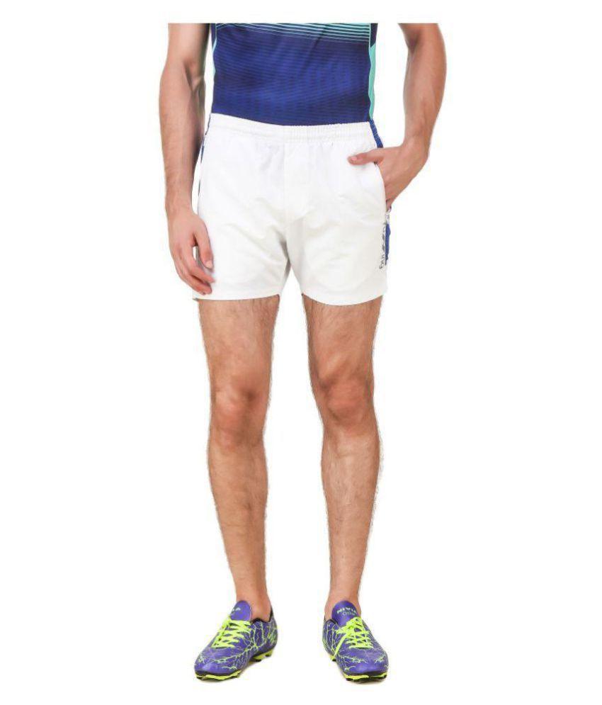 Nivia White Polyester Fitness Shorts-2039M-3